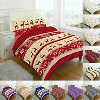 Flannelette Sheet Set Fitted Flat sheet with Pillow case Single Double King Size