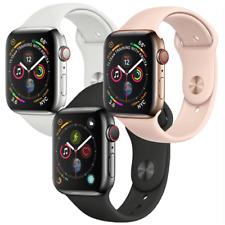 Reloj de Apple serie 4 44mm Gps + Celular 4G LTE Oro de Acero Inoxidable Negro espacial