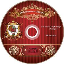 200 Christmas Embroidery Machine Designs PES brother small frame with PDF