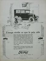 PUBLICITÉ DE PRESSE 1926 AUTOMOBILES FORD LE TORPEDO 2 et 5 PLACES