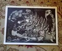 Fine Art Print On Canvas Signed Numbered R.S. Connett Older Demons Of Alcohol