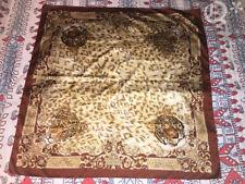 Auth Polysterol Scarf Shawl Tiger Leopard Italy