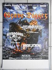 GRAVE DIGGER 2014 TOUR  --  orig. Concert Poster - Konzert Plakat  A1  NEU