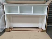 Brand New White Hutch for office desk with 3 compartments & pinboard (PERTH)