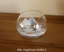 Weihnachtsdeko Glasvase mit Weihnachtsbaum Stern Deko Sand Weiss Set Tischdeko
