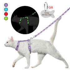 Reflective Cat Harness&Leash&Personalized ID Tag Escape Proof Small Puppy Vest