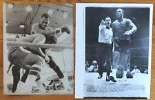 Boxing JOE FRAZIER vs. JIMMY ELLIS 1970, 1975 Press Wire Photo Set of 2