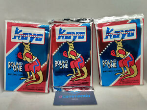 1991-92 Kayo Round One Premiere Edition Boxing Card Packs - 3 x Sealed Packets