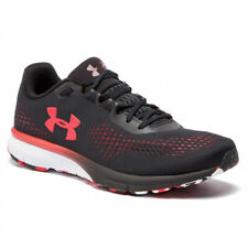 Men's Under Armour UA Charged Spark Black / Red Mesh Running Shoes Trainers