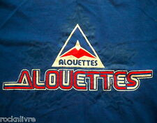 Adult Medium T-SHIRT * MONTREAL ALOUETTES retro style vintage CFL Roger Edwards