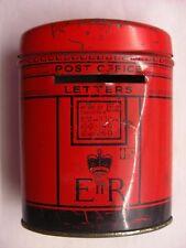 Vintage Single Slot ER Post Office Savings Tin/Money Pillar Box