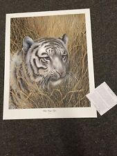 Imogene Farnsworth  S/# Lithograph: WHITE BENGAL TIGER 1980 Ed 1750 <30""