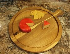 rustic round serving platter - select hardwood - round cheese board