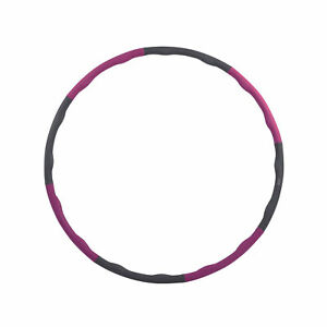 HolaHatha 900G 6 Piece Weighted Fitness Hula Hoop for Home Workouts and Toning