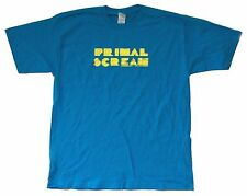 Primal Scream Yellow Lines Logo Blue T Shirt New Official Band