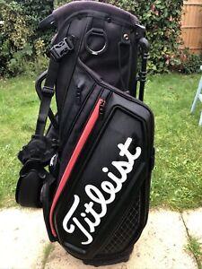 2020 Titleist Jet Black Premium Stand Bag, 4-Way, rainhood, very good