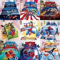 Justice League&The Avengers Single Bed Quilt Doona Duvet Cover Set Pillow Case