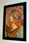 Alphonse Mucha Alfons zodiac Savo canvas print framed reproduction 7X8.9&10X13,6