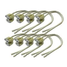 8 x G6.35 GX5.3 Bi Pin Ceramic Halogen Lamp Holder Up To 24v 250w Light Bulb