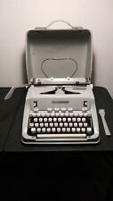 Recently Cleaned Serviced Vintage Hermes 3000 Portable Typewriter w/Case & Brush