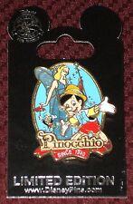 Disney Limited Edition pin Pinocchio 75th Anniversary pin 1940- 2015 Le 2000