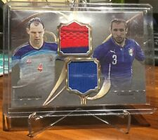 2016 Futera Unique Versus Soccer Card Ignashevich/Chiellini 30/49