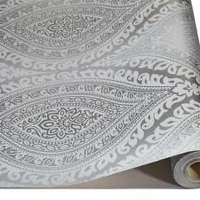 Grandeco Kismet Damask Pattern Wallpaper Metallic Glitter Motif Art Deco Roll SI