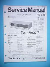 Service Manual Instructions for Technics RS-B18, Original
