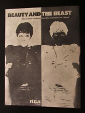 """DAVID BOWIE BEAUTY AND THE BEAST 12"""" x 16"""" FULL PAGE MAGAZINE ADVERT UK 1978"""