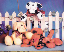 SALE - PATTERN - Puppies on the Loose - fun softie PATTERN by Cotton Ginnys