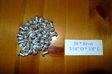 "Solid Aluminium Rivets 3/16"" dia * 3/8""  long *50 Land Rover Series 300789"