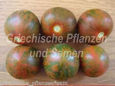 Weinberg-Tomate de italia negro a rayas Tomaten 10 Semillas frescas Balcón