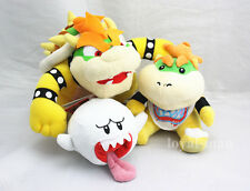 Super Mario Set Bros King Koopa & Bowser Jr. & Boo Ghost Soft Toy Plush Doll