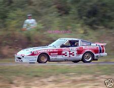 PAUL NEWMAN DATSUN 280ZX RACING PHOTO RACE CAR BOB SHARP BUDWEISER CANNON 1980