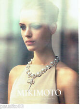 PUBLICITE ADVERTISING 1016  2015   Mikimoto  joaillier  les perles de culture