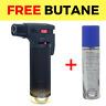 Eagle Jet Gun Torch Lighter Windproof Refillable Lighter Butane (Black) + Butane