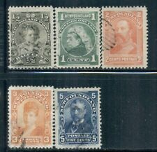 NEWFOUNDLAND 78-85 SG83-90 Used 1897-1901 Royal Family short set of 5/8 Cat$8
