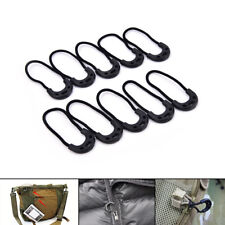 10pcs EDC Black Zip Zipper Pull Cord Rope For Outdoor Travel*Clothing Backpack