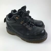 Vintage 90s Dr Martens England Mens Airwair Ankle Boots Black Lace Up Work 8