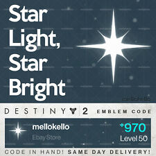 Destiny 2 Star Light Star Bright emblem IN HAND!! SAME DAY DELIVERY!!!