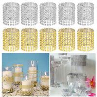 50/100/150pcs Wedding Dinner Rhinestone Diamond Napkin Rings Buckle Holders Bulk