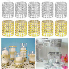 50/100/150pcs Wedding Dinner Rhinestone Diamond Napkin Rings Buckle Holders Bulk