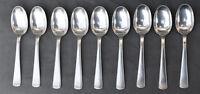 9 Cuillères à Café Argent Massif Minerve modèle art déco ( silver coffee spoons)