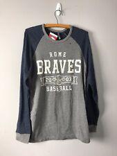 Rome Braves Minor Baseball Logo Raglan T-Shirt Brand New Tee L/S Size M Medium