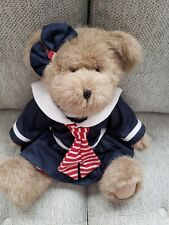 Boyds Nautical Sailor Girl Bear in Red, White And Blue Sailor Outfit