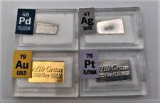 0.1 Gramm Barren Set Mit Gold Platinum Palladium Und Silber Alle Auf Least 99.9%