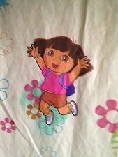 "Nickelodeon Dora the Explorer Twin Flat Sheet 95"" Long X 66"" Wide Pink Multicol"