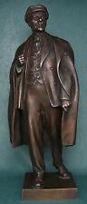 Russian Soviet communist LENIN pure cupper bronze statue sculpture sc.Sychev
