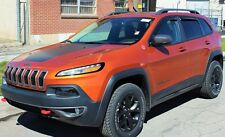 Jeep Cherokee 2014 - 2018 In Channel Vent Visors Wind Deflector Shade 4 pc