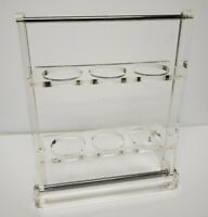 1970's Carole Stupell Lucite Rock Glasses Stand Holder Caddy Mid Century Modern